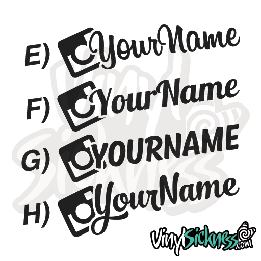 CUSTOM INSTAGRAM USERNAME SET   Vinyl Sickness - Car sticker decals custom