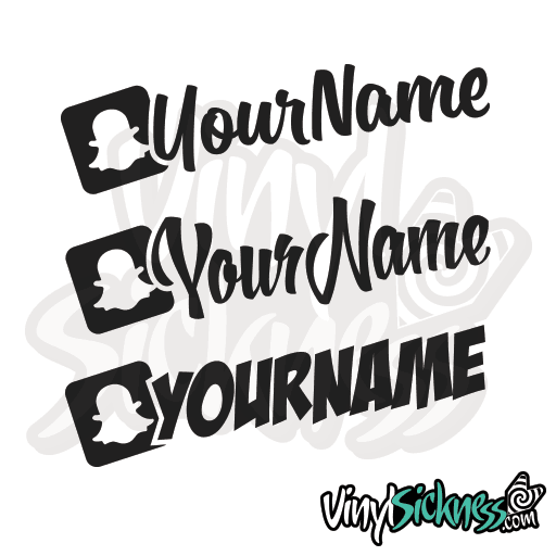CUSTOM SNAPCHAT USERNAME  STICKERS  DECALS - Car sticker decal