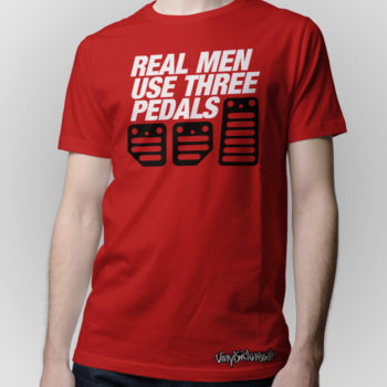 Real Men Use Three Pedals Red Jdm Tuner Shirt